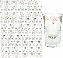 120er Set Schnapsglas DUBLINO mit Eichstrich, 2