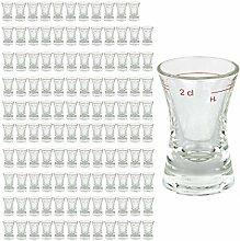 120er Set Schnapsglas WACHTMEISTER mit Eichstrich,