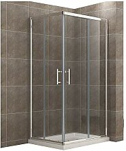 120x100cm Eckeinstieg Duschkabine Sicherheitsglas