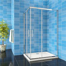 120x110x185cm 6mm Glas Eckeinstieg Schiebetür