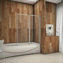 120x140cm Badewannenaufsatz Duschabtrennung
