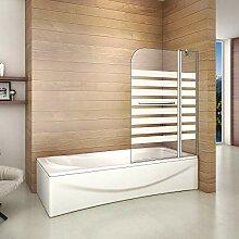 120x140cm Duschabtrennung Badewanne 2 tlg.
