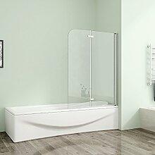 120x140cm Duschabtrennung Badewannenaufsatz