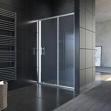 120x185cm Schiebetür Dusche Klarglas Duschwand -