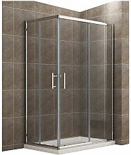120x90cm Eckeinstieg Duschkabine mit Duschtasse