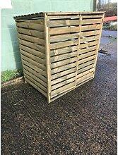 122 cm x 146 cm Mülltonnenbox aus Holz