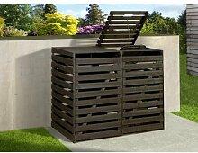 122 x 148 cm Mülltonnenbox aus Kiefernholz