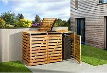 122 x 219 cm Mülltonnenbox aus Kiefernholz