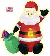 122cm großer aufblasbarer Weihnachtsmann Nikolaus
