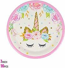 123 Party Einhorn Party Dekor Geburtstag Latex