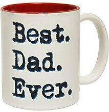123t Mugs - Keramikbecher mit Slogan BEST DAD EVER