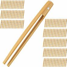 128 x Bambuszange, 20 cm lang, Grillzange