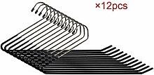 12er Metall Hosenbügel Kleiderbügel Antirutsch aus Eisen