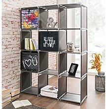 12er Regal Standregal Bücherregal Beistellregal