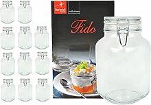12er Set Einmachglas Bügelverschluss Original