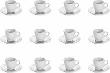 12er Set Espressotasse WHITE BASICS ROUND H. 6,5cm