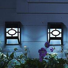 12er Set LED Zaun Solarleuchten Wandleuchten Gartendeko Lights4fun