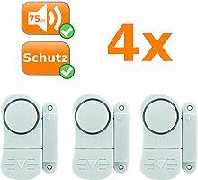 12er Set Mini Alarmanlagen, sichert Fenster und Türen, Alarmauslösung durch Magnetkontakt, kabellos