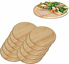 12er SET Pizzateller 32 cm aus hellem
