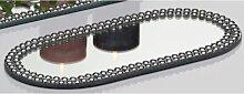 12er SET Sandra Rich Spiegelplatten, Deko Spiegel, Tischspiegel 30x14 cm, oval (98,95 EUR / SET)