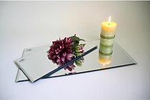 12er SET Spiegelplatte, Deko Tischspiegel, 30x15cm, Glas rechteckig, Sandra Rich (49,95 EUR / SET)
