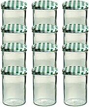 12er Set Sturzglas 435 ml Marmeladenglas