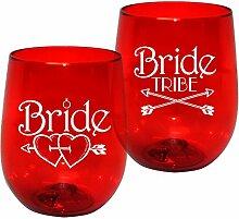 - 12oz Kunststoff ohne Stiel Wein Glas-Braut