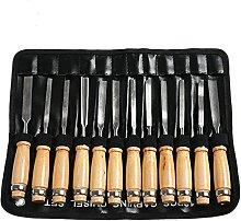 12Pcs Holzschnitzerei Handmeißel Werkzeug Set