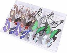 12stück 2 Variantenmix Dekoration Schmetterling