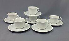 12tlg. Set Espressotassen Porzellan Modell Barock