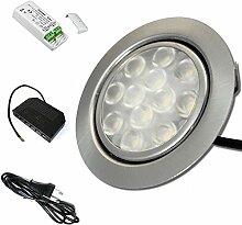 12V Möbeleinbauleuchte LED flach 1 x 3W