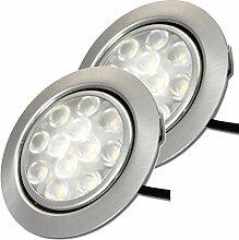 12V Möbeleinbauleuchten LED flach 2 x 3W