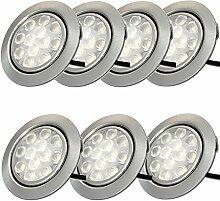 12V Möbeleinbauleuchten LED flach 7 x 3W