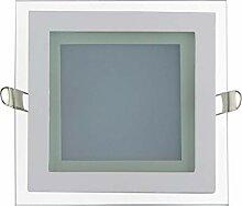 12w LED Glas Einbaustrahler mit Glas Rahmen