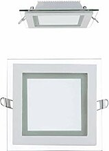 12W LED Panel Glas Abdeckung Einbaustrahler Spot
