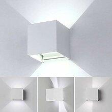 12W LED Wandleuchte Innen/Aussen Modern,Wandlampe