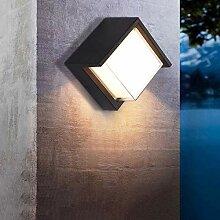 12W Modern Quadratisch LED Außen-Wandleuchte,