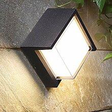 12W Rechteckige Modern LED Wandleuchte, IP65