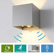 12W Wandleuchte Bewegungsmelder Aussen/Innen LED
