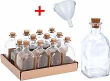 12x Apotheker Glas Flaschen 120ml inkl. Trichter