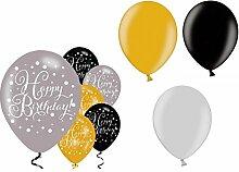 12x Ballon Dekoration Ergänzung Geburtstag (ohne