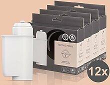 12x Filterpatrone Seltino PRIMO - Ersatzfilter für Brita Intenza 467873 TZ70003, für Espressovollautomaten Bosch, Neff, Siemens, Gaggenau... (4x 3er Pack!)