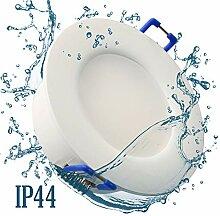 12x IP44 LED Bad Einbaustrahler 230V sehr flach
