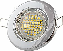 12x Lu-Mi Einbaustrahler GU10 LED 3W SMD Warmweiß