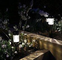 12x Luxform Macon Solarleuchte Gartenleuchte