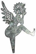 12x Silberne Metall Engel Stecker Sticker