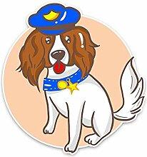 13.5CM * 14CM Cartoon Nette Polizei Hund Auto