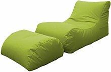 13 CASA Chaiselongue Hocker Marea grün Size is
