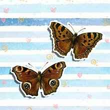 13 cm x 10,7 cm Brown Butterfly Auto Fenster