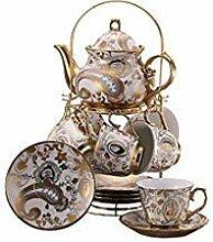 13 Stück Europäischen Titan Gold Tee Set Mit